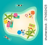 summer holiday in tropical... | Shutterstock .eps vector #274302425