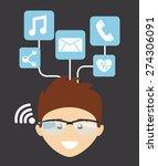 wearable technology design ... | Shutterstock .eps vector #274306091