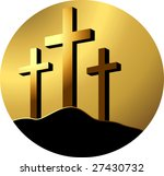 cross in brown colour... | Shutterstock .eps vector #27430732