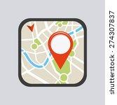 gps location design  vector... | Shutterstock .eps vector #274307837