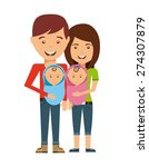 happy family design  vector... | Shutterstock .eps vector #274307879