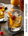 homemade old fashioned cocktail ... | Shutterstock . vector #274311365