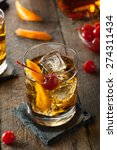 homemade old fashioned cocktail ... | Shutterstock . vector #274311434