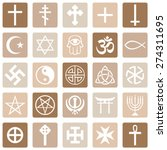 vector set of religious symbols | Shutterstock .eps vector #274311695