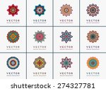 mandalas collection. round... | Shutterstock .eps vector #274327781