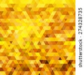 abstract gold triangle... | Shutterstock .eps vector #274328735