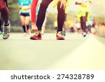 marathon running race  people... | Shutterstock . vector #274328789