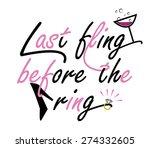 bachelorette party card design | Shutterstock .eps vector #274332605