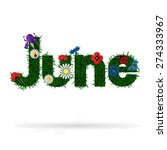 Illustration Of The Word 'june...