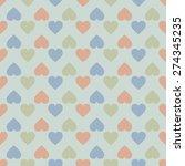 vintage seamless pattern of ... | Shutterstock . vector #274345235