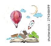 imagination concept   open book ...   Shutterstock .eps vector #274348499