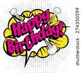 """pop art comics icon """"happy...   Shutterstock .eps vector #274350599"""