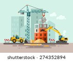 construction site  building a... | Shutterstock .eps vector #274352894