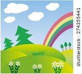 rainbow icon.  | Shutterstock . vector #274355441