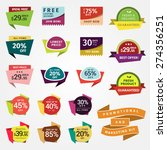 promotional badges and sale... | Shutterstock .eps vector #274356251