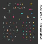 cute alphabet. hand drawn... | Shutterstock .eps vector #274357049