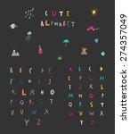 cute alphabet. hand drawn...   Shutterstock .eps vector #274357049