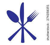 cutlery icon | Shutterstock .eps vector #274358351