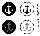 anchor icon set   Shutterstock .eps vector #274358375