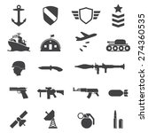 military icons | Shutterstock .eps vector #274360535