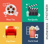 cinematography set of square... | Shutterstock .eps vector #274376834