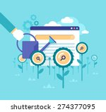 organic search ranking.modern... | Shutterstock .eps vector #274377095