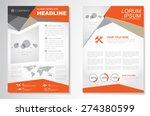 vector brochure flyer design... | Shutterstock .eps vector #274380599