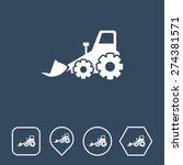 bulldozer icon on flat ui...