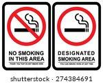 no smoking and smoking area | Shutterstock .eps vector #274384691
