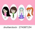 medel girl | Shutterstock .eps vector #274387154