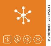 molecules icon on flat ui...