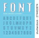 font alphabet  vector...   Shutterstock .eps vector #274402874