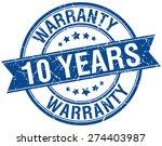 10 years warranty grunge retro... | Shutterstock .eps vector #274403987