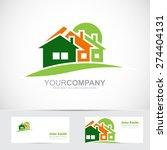 vector logo template of real... | Shutterstock .eps vector #274404131