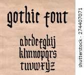 gothic style font | Shutterstock .eps vector #274407071