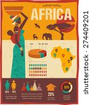 africa   infographics with data ... | Shutterstock .eps vector #274409201