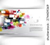 eps10 vector multicolor... | Shutterstock .eps vector #274409369