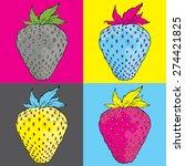 Pop Art Strawberry