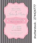 wedding invitation card... | Shutterstock .eps vector #274424777