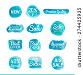 set of watercolor sale banners  ... | Shutterstock .eps vector #274425935