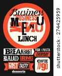 restaurant menu typographic... | Shutterstock .eps vector #274425959