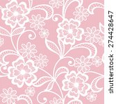 Seamless  Abstract Lace  Flora...