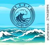 Surf Club Logo Or Emblem...