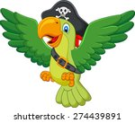 cartoon pirate parrot | Shutterstock .eps vector #274439891