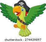 Stock photo cartoon pirate parrot 274439897