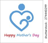 happy mother s day symbol.... | Shutterstock .eps vector #274440299