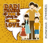 fathers day design over yellow... | Shutterstock .eps vector #274440821