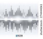 shining grey digital equalizer... | Shutterstock .eps vector #274444061