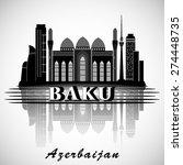 modern baku city skyline design.... | Shutterstock .eps vector #274448735