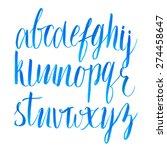 hand drawn brush script font.... | Shutterstock .eps vector #274458647